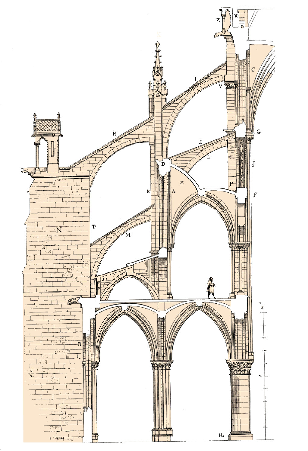 Illustration of Flying Buttresses
